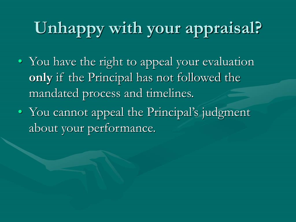 Unhappy with your appraisal?