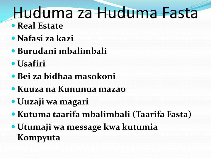 Huduma za Huduma Fasta