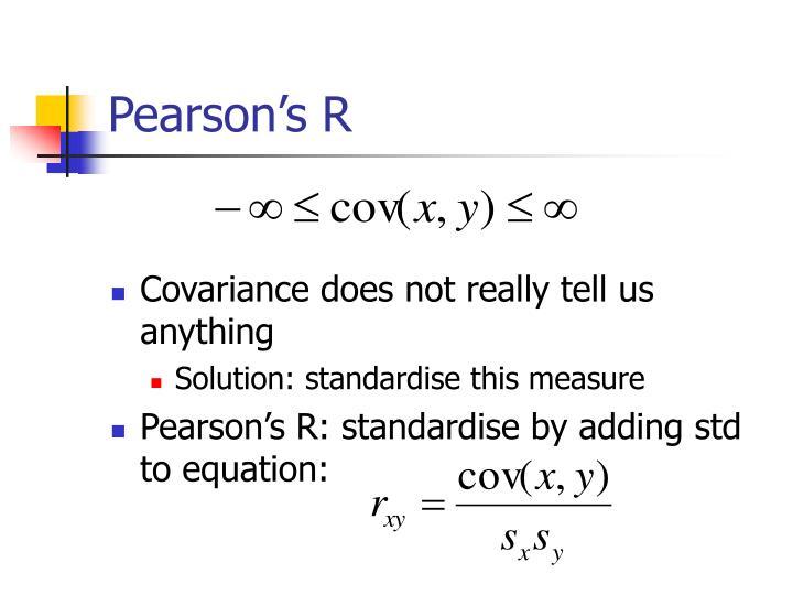 Pearson's R