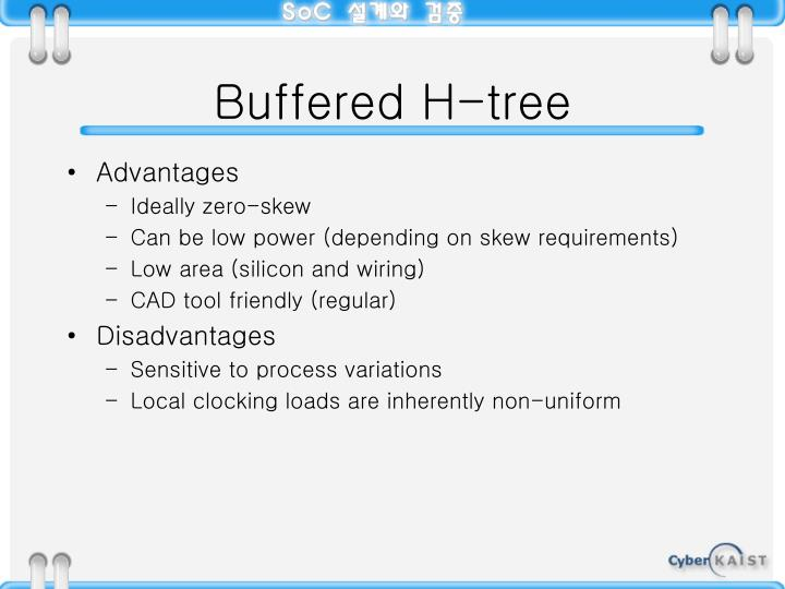 Buffered H-tree