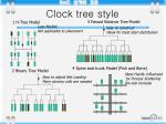clock tree style
