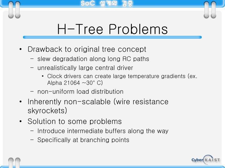 H-Tree Problems