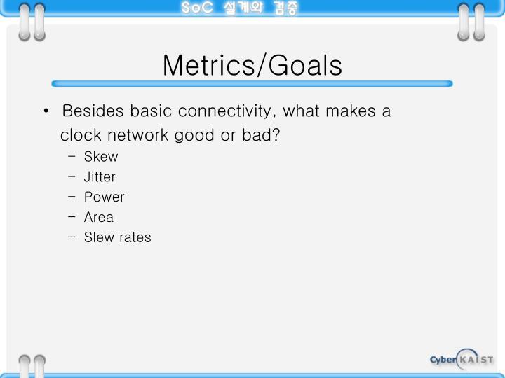 Metrics/Goals