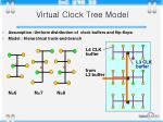 virtual clock tree model