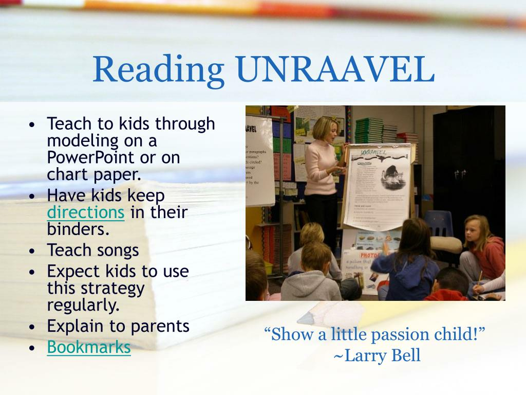 Reading UNRAAVEL
