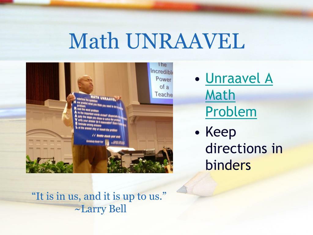 Math UNRAAVEL