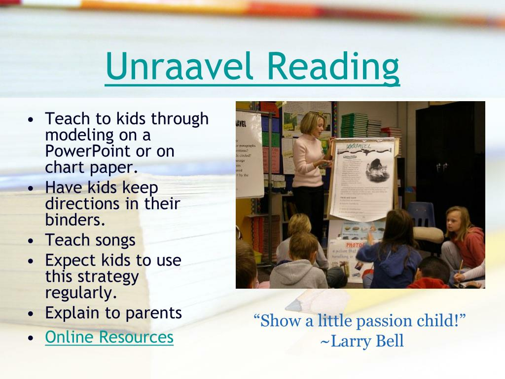 Unraavel Reading