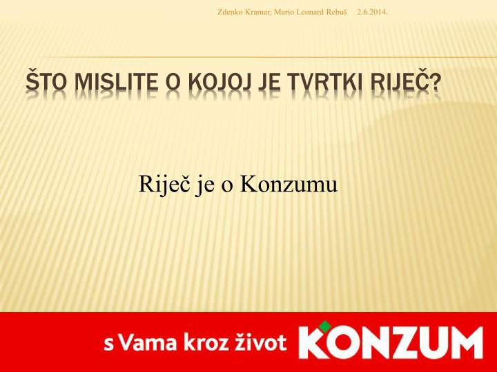 Zdenko Kramar, Mario Leonard Rebuš