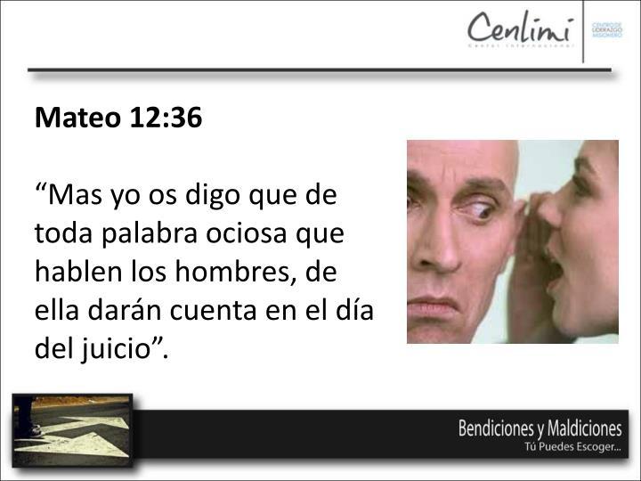 Mateo 12:36