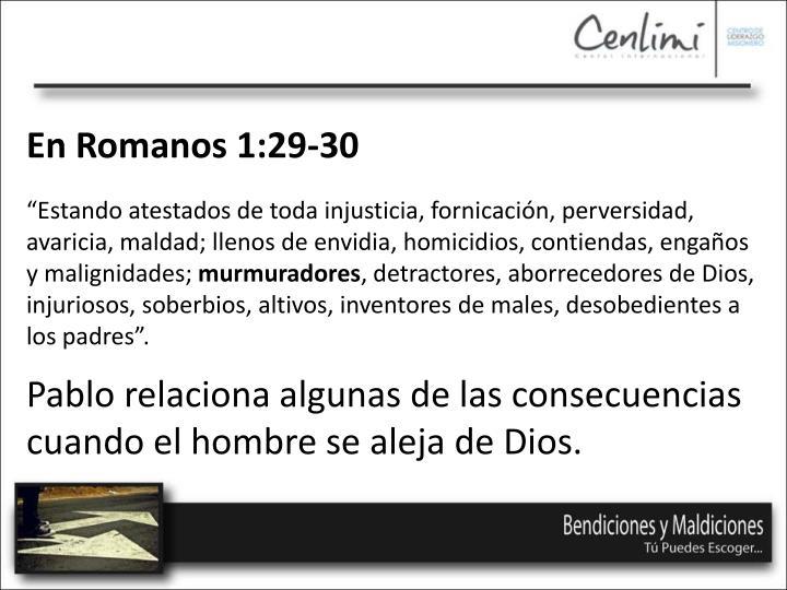 En Romanos 1:29-30