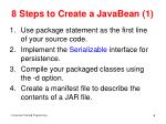 8 steps to create a javabean 1