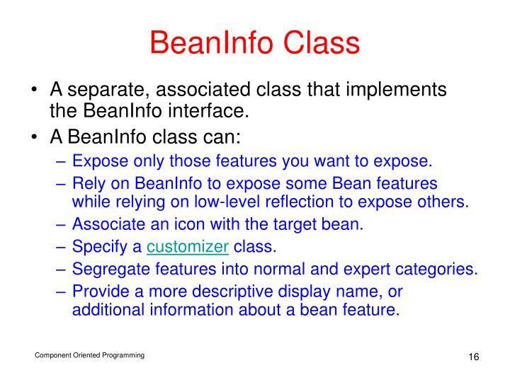 BeanInfo Class