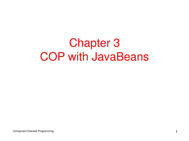 chapter 3 cop with javabeans