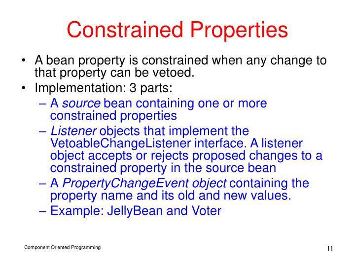 Constrained Properties