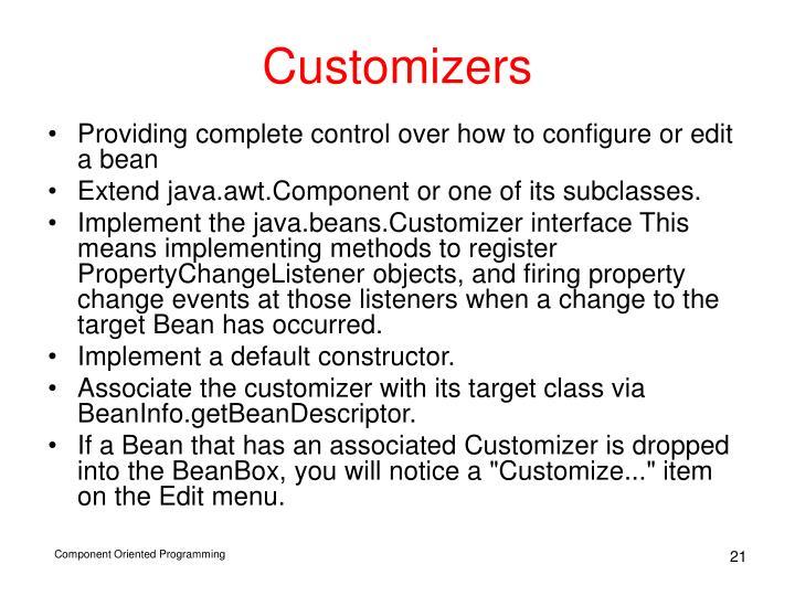 Customizers