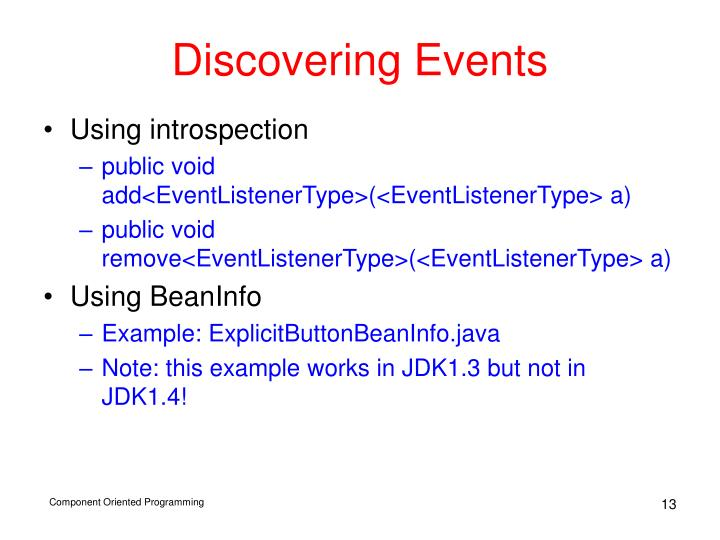 Discovering Events