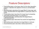 feature descriptors