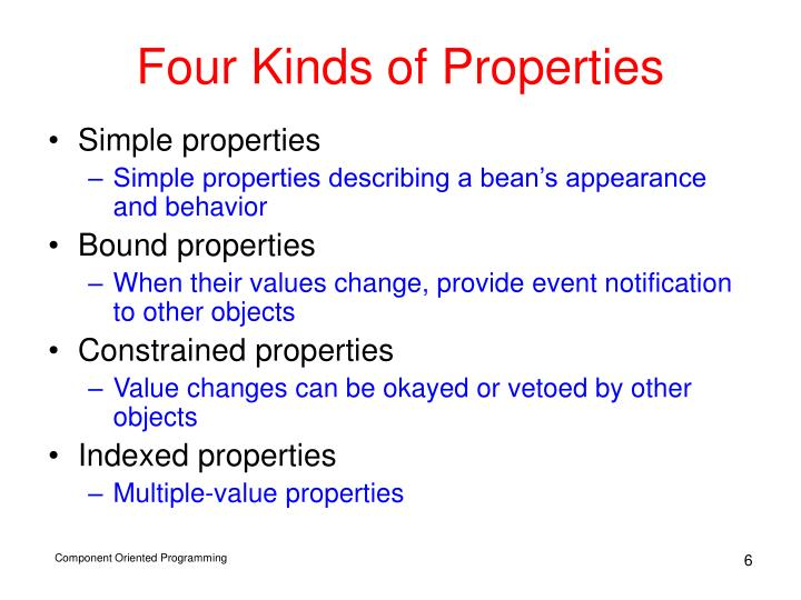 Four Kinds of Properties
