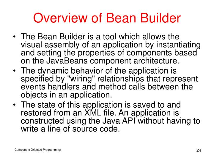 Overview of Bean Builder