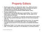 property editors