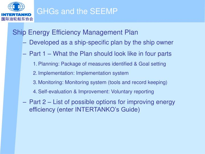 GHGs and the SEEMP