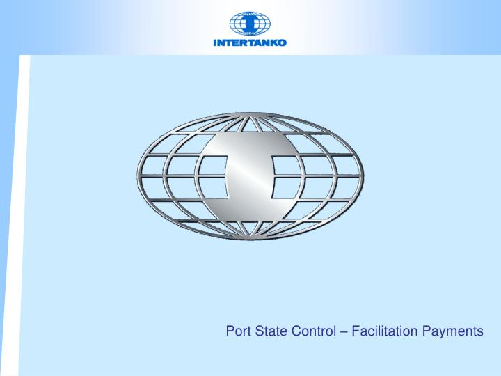 Port State Control – Facilitation Payments