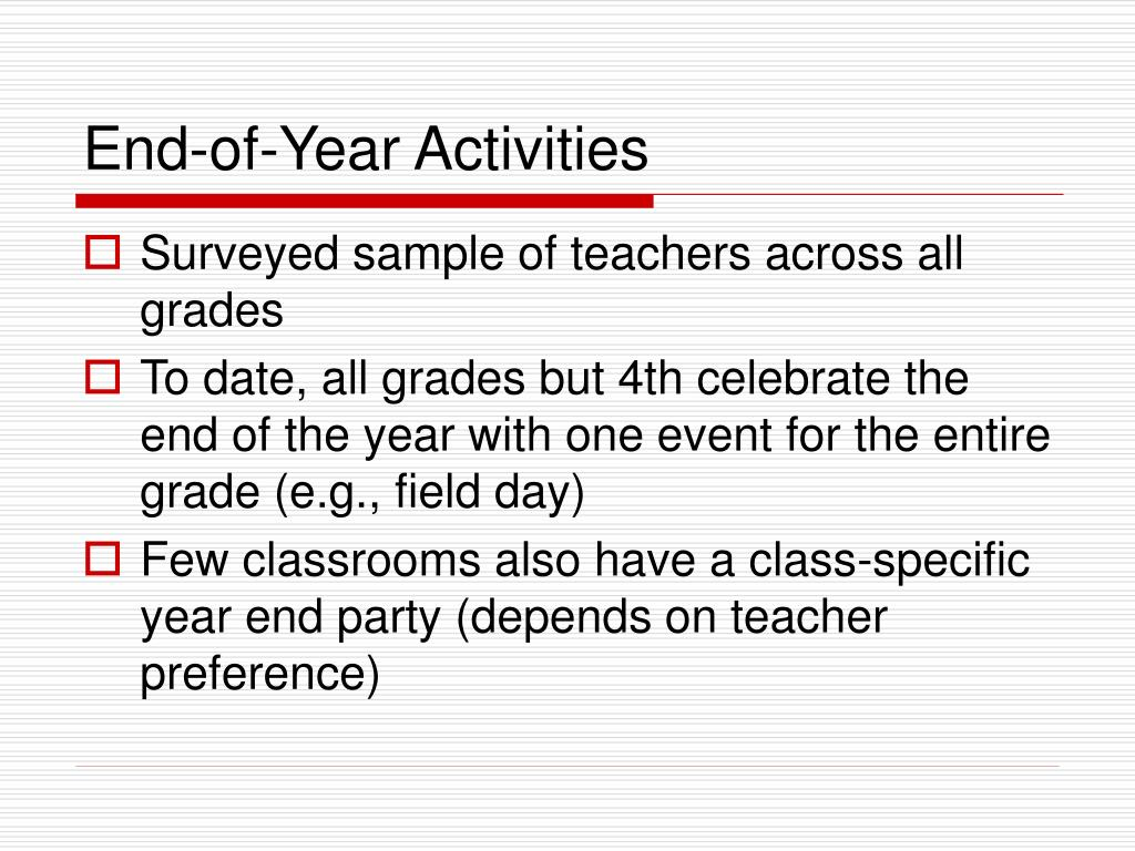 End-of-Year Activities