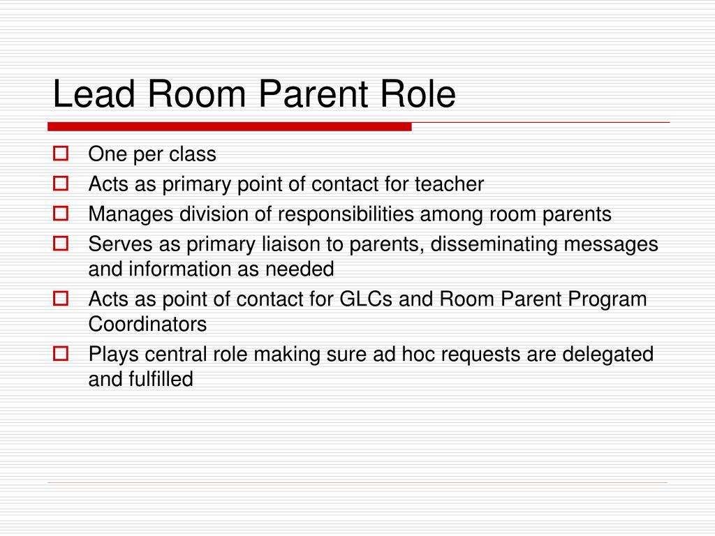 Lead Room Parent Role