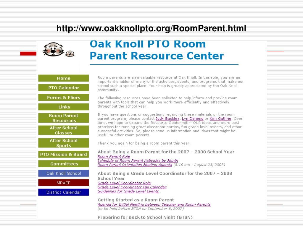 http://www.oakknollpto.org/RoomParent.html