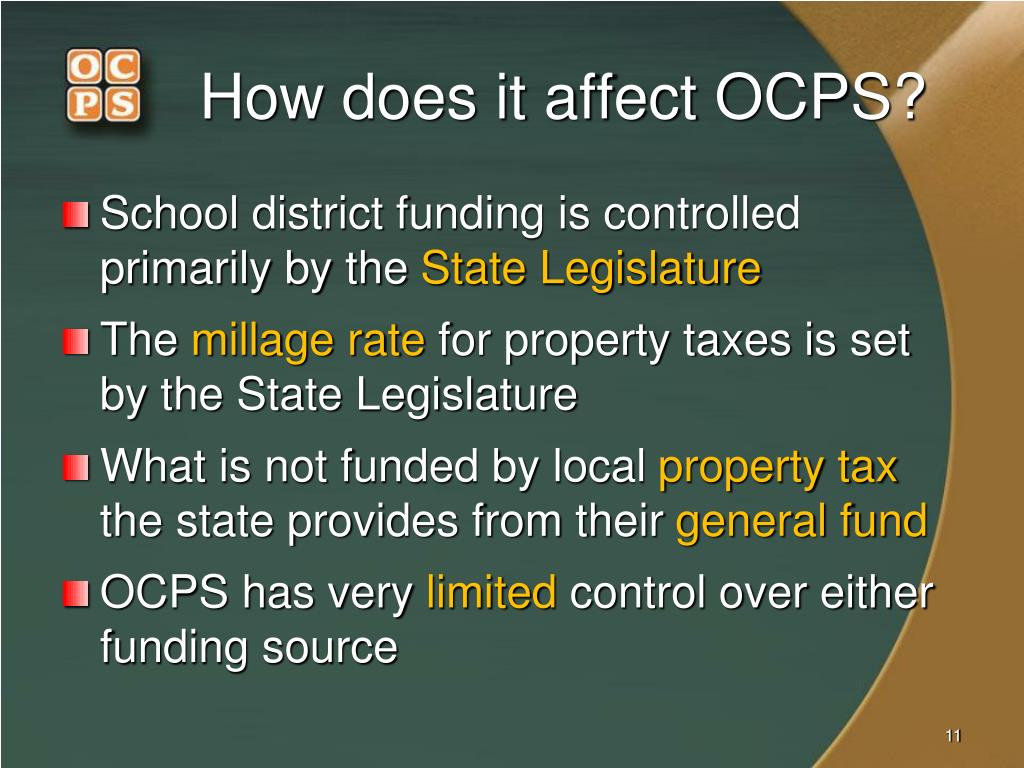 How does it affect OCPS?