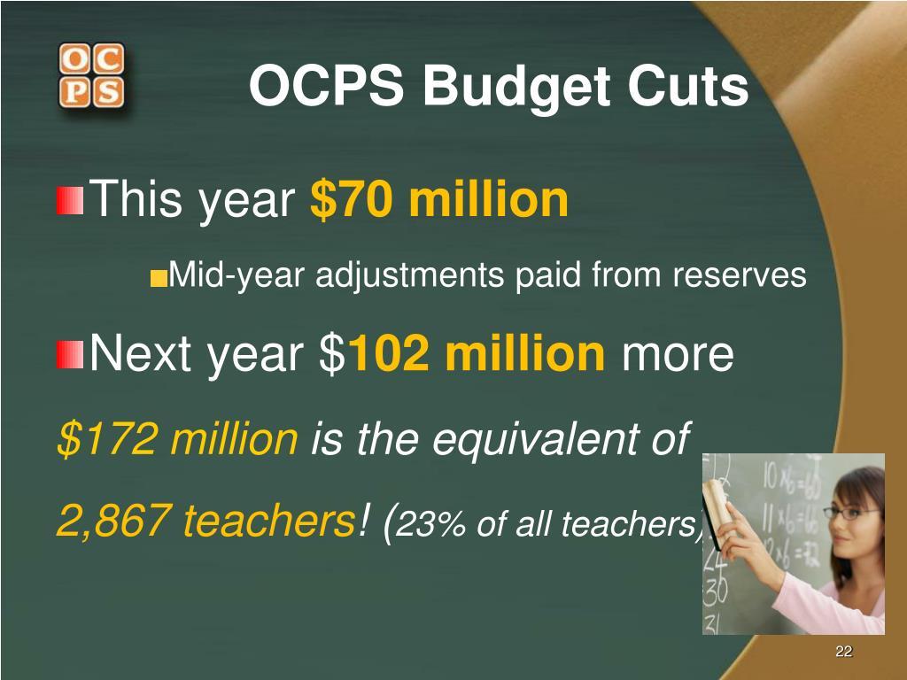 OCPS Budget Cuts