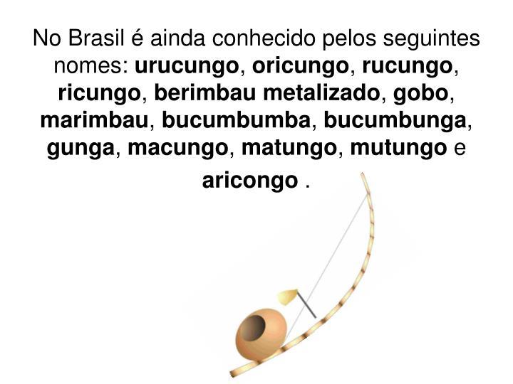 No Brasil é ainda conhecido pelos seguintes nomes: