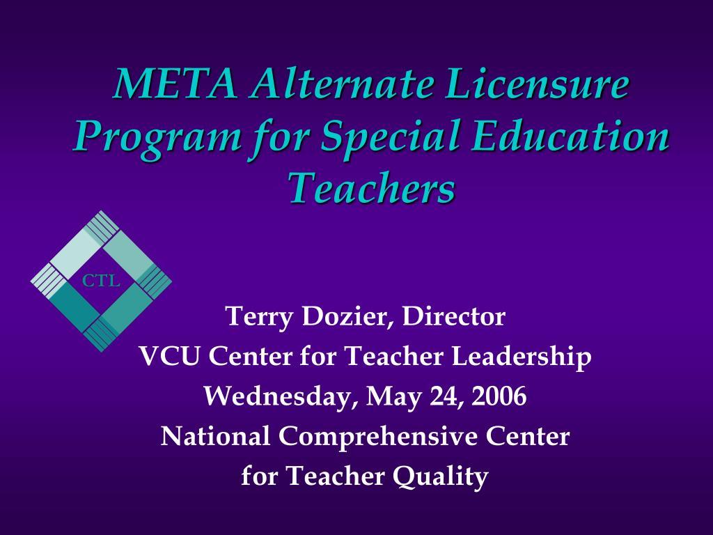 meta alternate licensure program for special education teachers