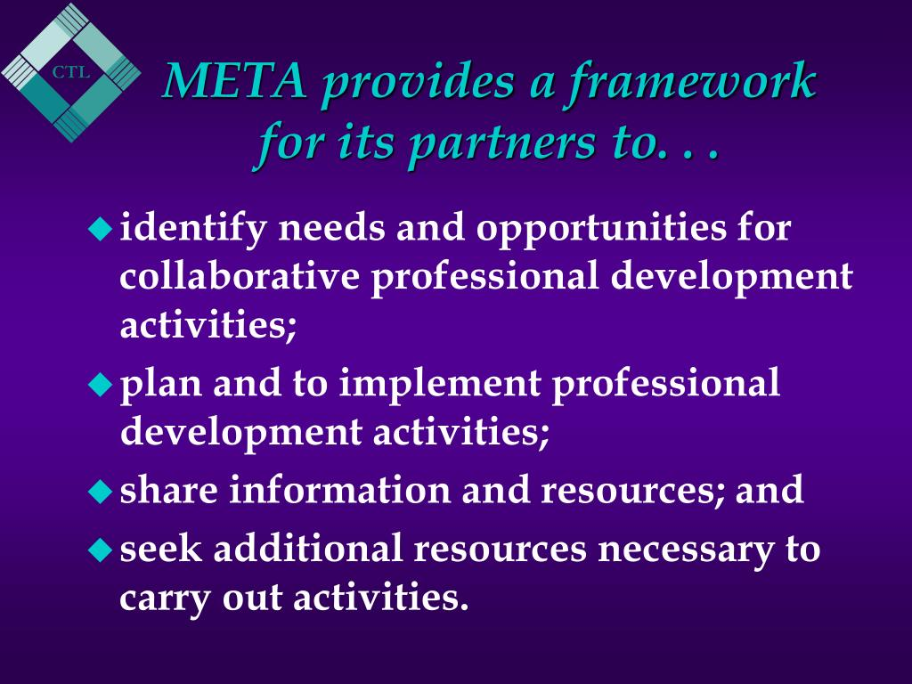 META provides a framework for its partners to. . .
