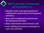 meta provides a framework for its partners to