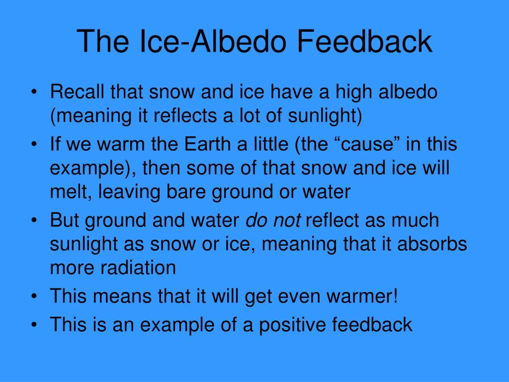 The Ice-Albedo Feedback