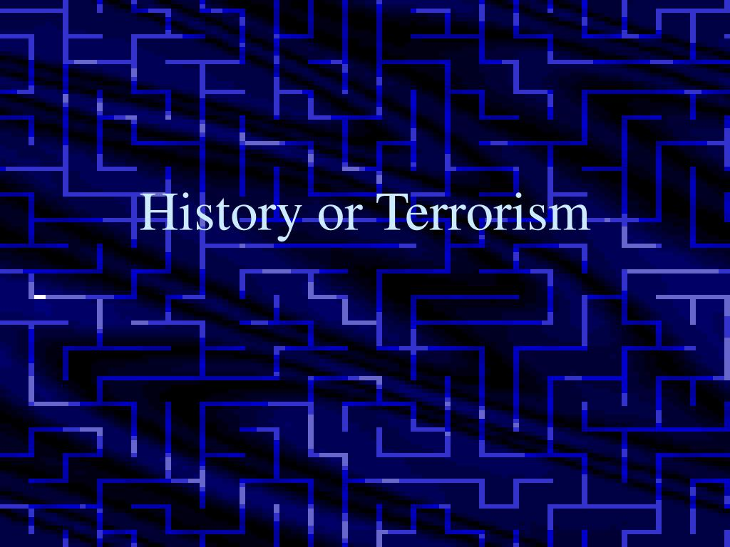 History or Terrorism
