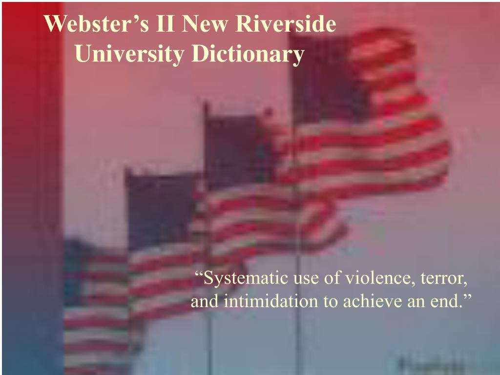 Webster's II New Riverside University Dictionary