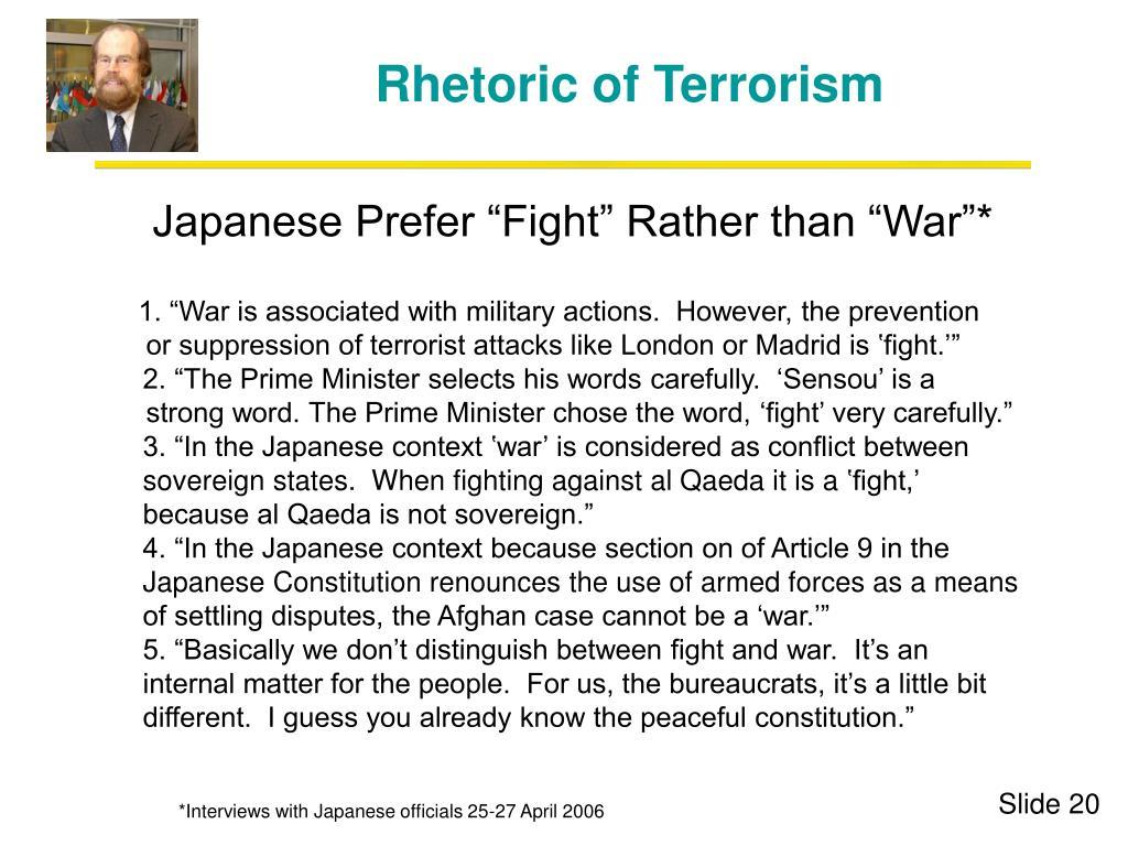 Rhetoric of Terrorism