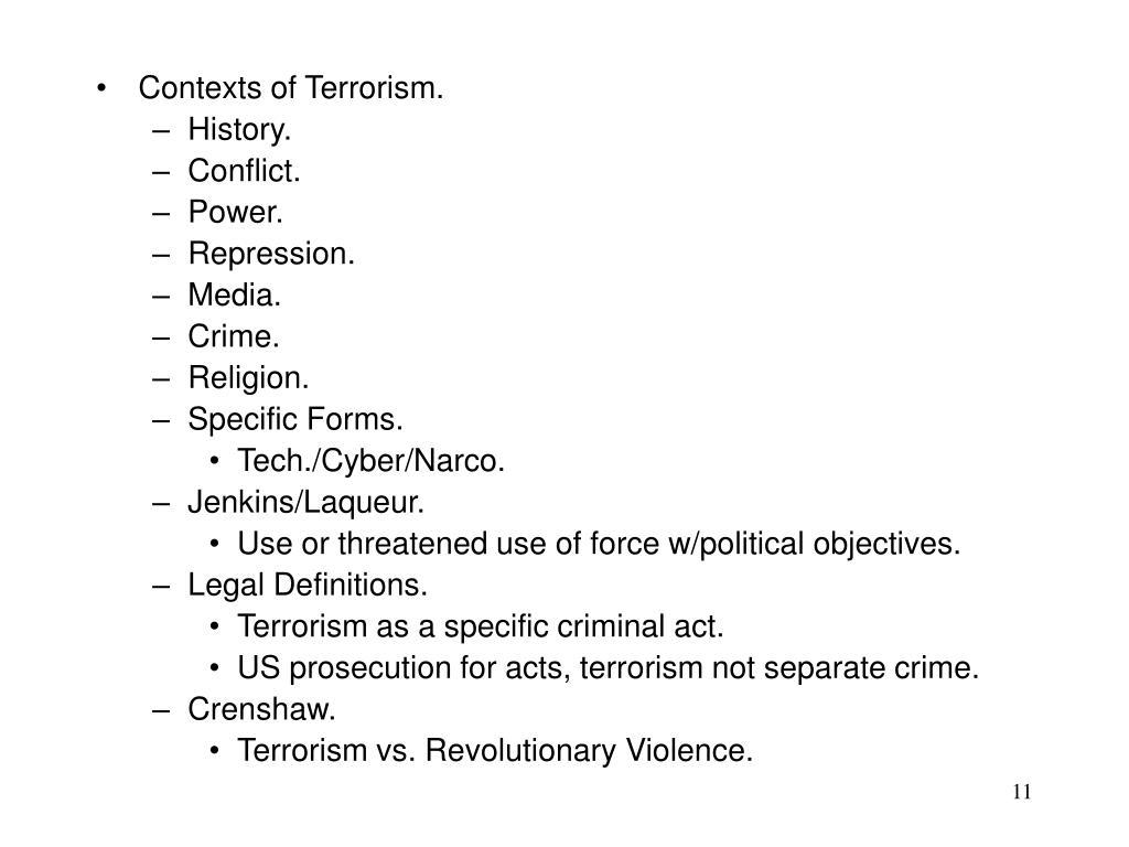 Contexts of Terrorism.