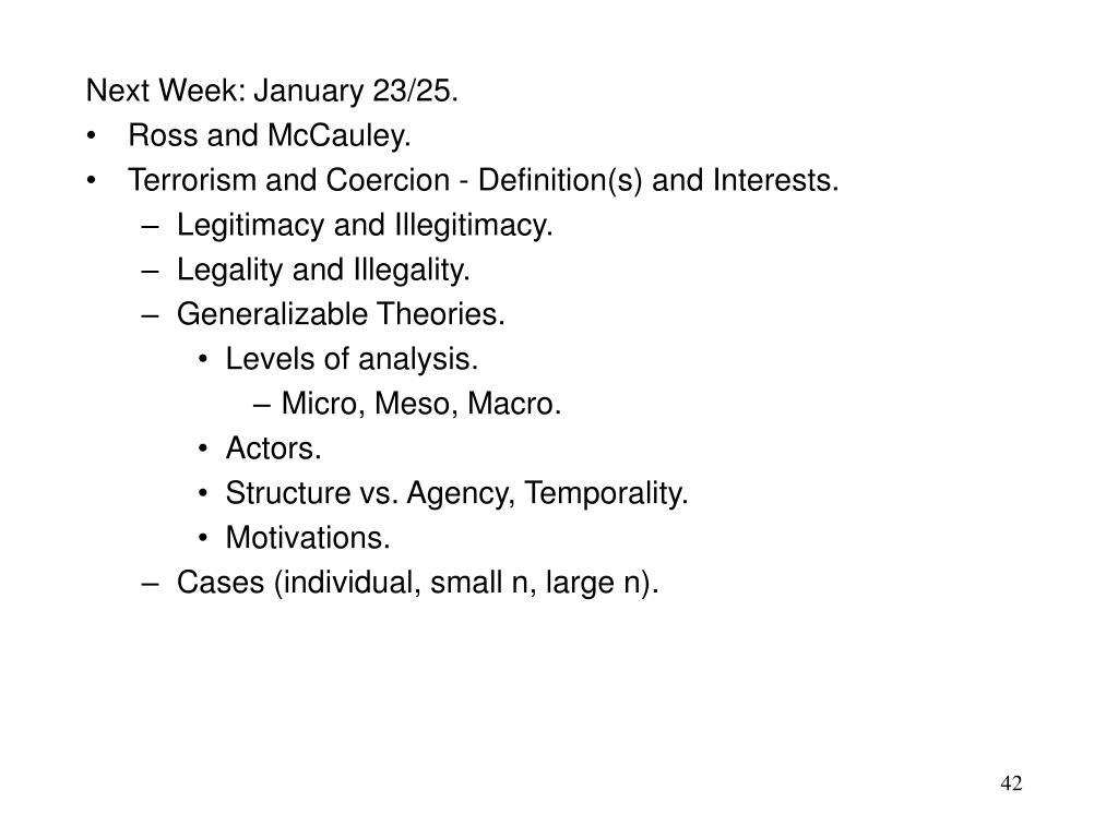 Next Week: January 23/25.