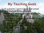 my teaching goals