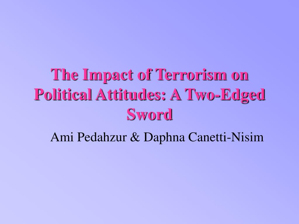 the impact of terrorism on political attitudes a two edged sword