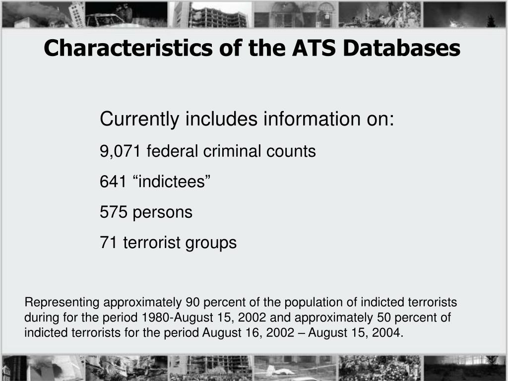 Characteristics of the ATS Databases