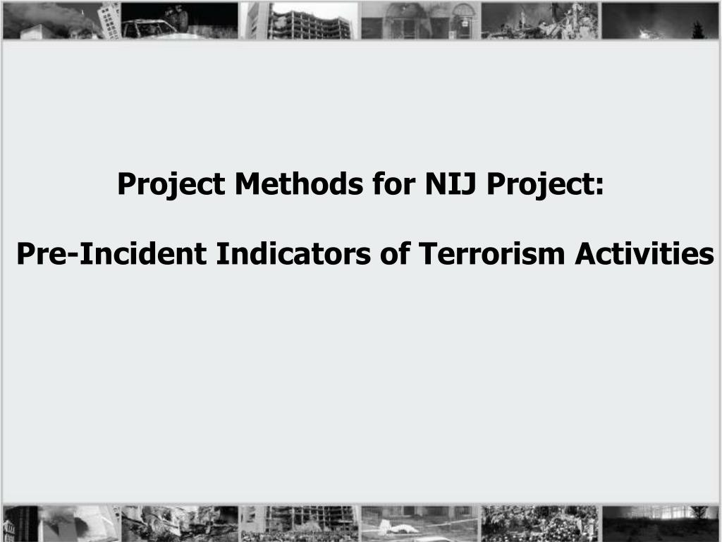 Project Methods for NIJ Project: