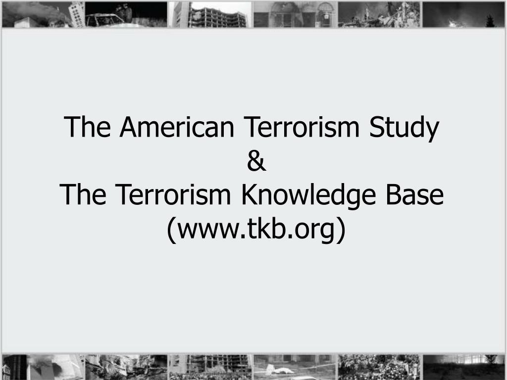 The American Terrorism Study