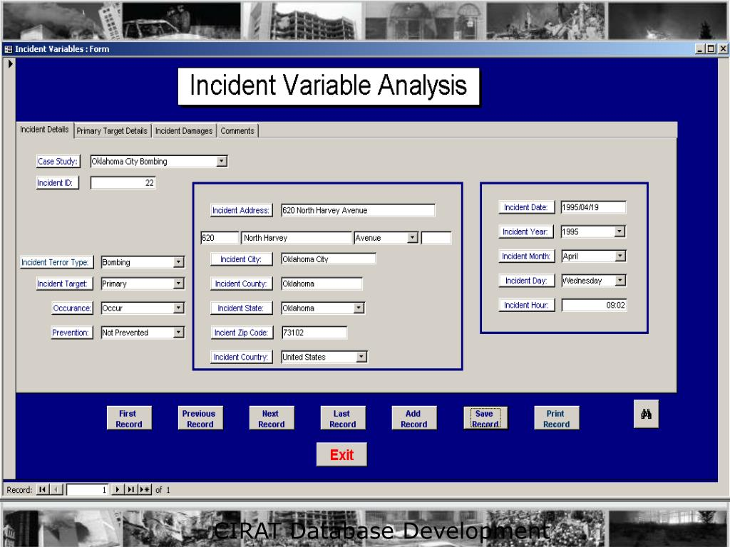 CIRAT Database Development