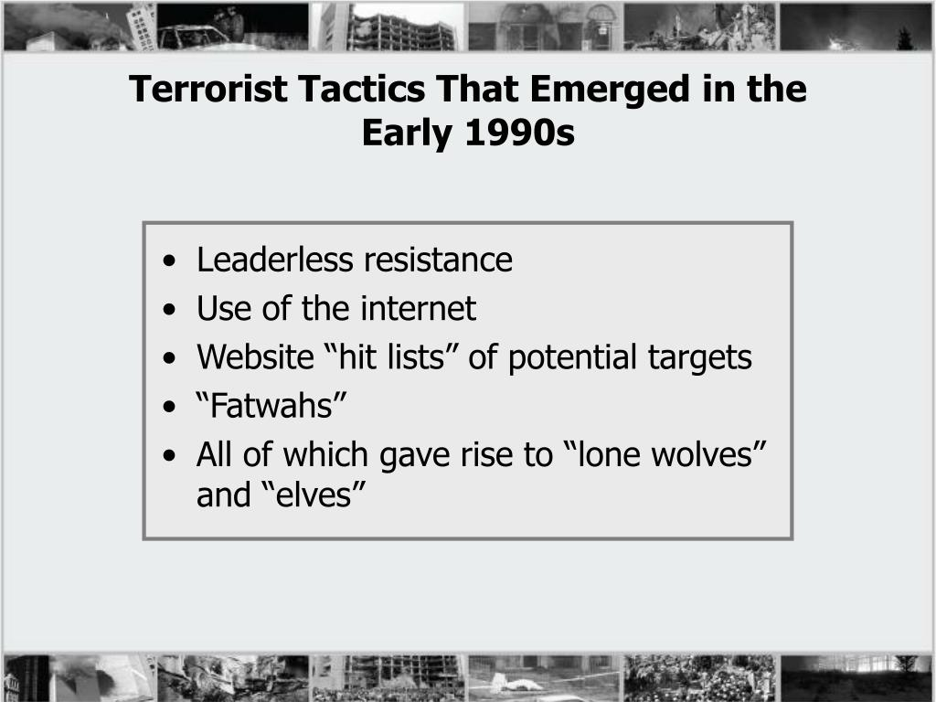 Terrorist Tactics That Emerged in the