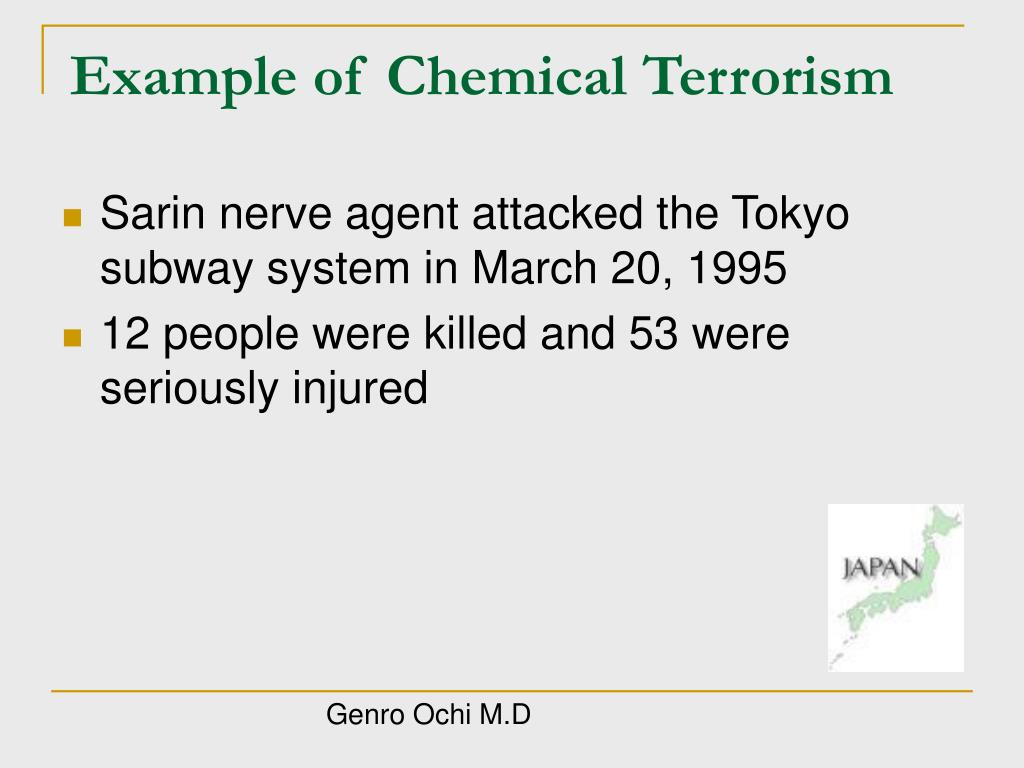 Example of Chemical Terrorism