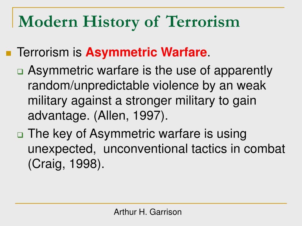 Modern History of Terrorism